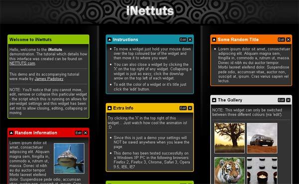 igoogle style dashboard from nettuts