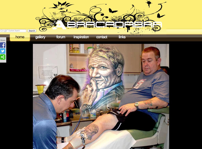 Screenshot of abracadabra tattoo.co.uk